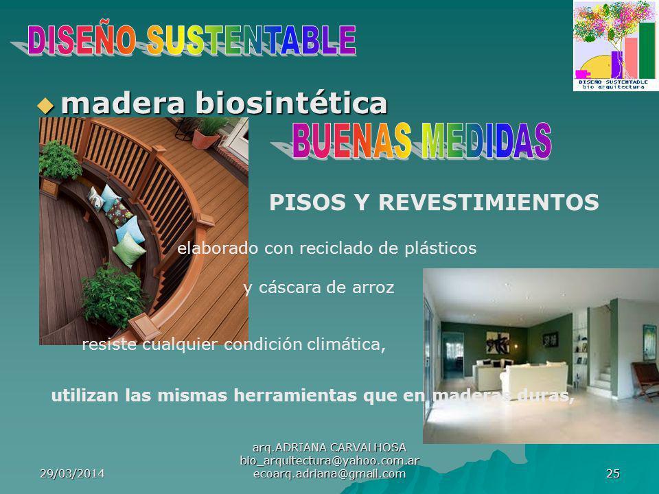 madera biosintética DISEÑO SUSTENTABLE BUENAS MEDIDAS