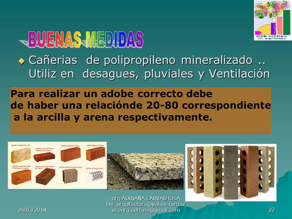 BUENAS MEDIDAS Cañerias de polipropileno mineralizado .. Utiliz en desagues, pluviales y Ventilación.