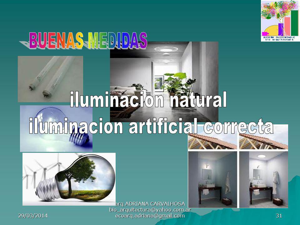 iluminacion artificial correcta