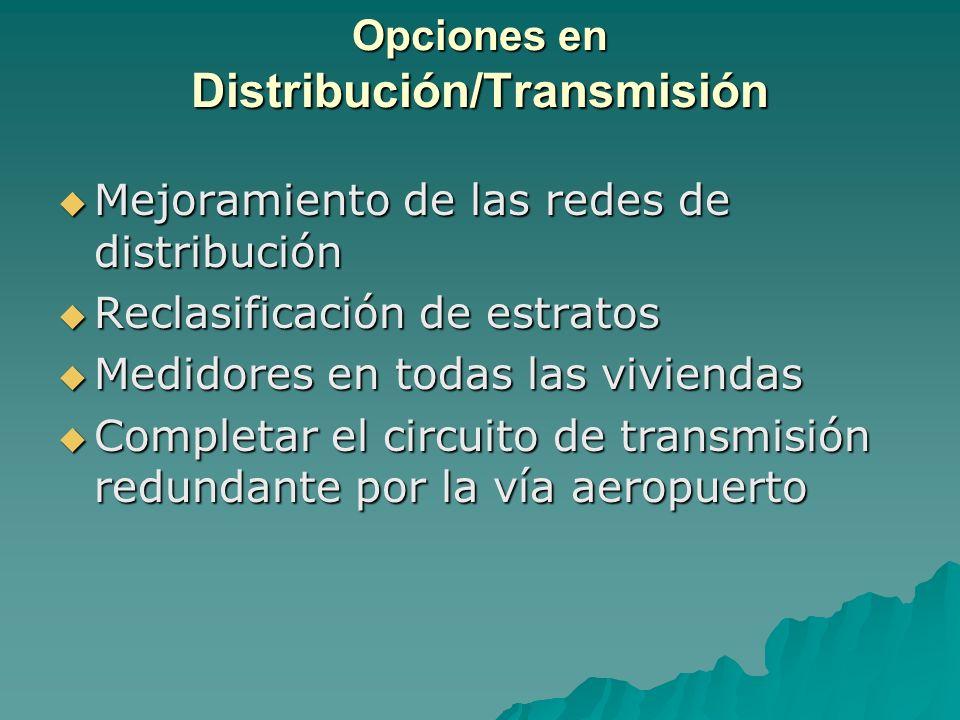 Opciones en Distribución/Transmisión