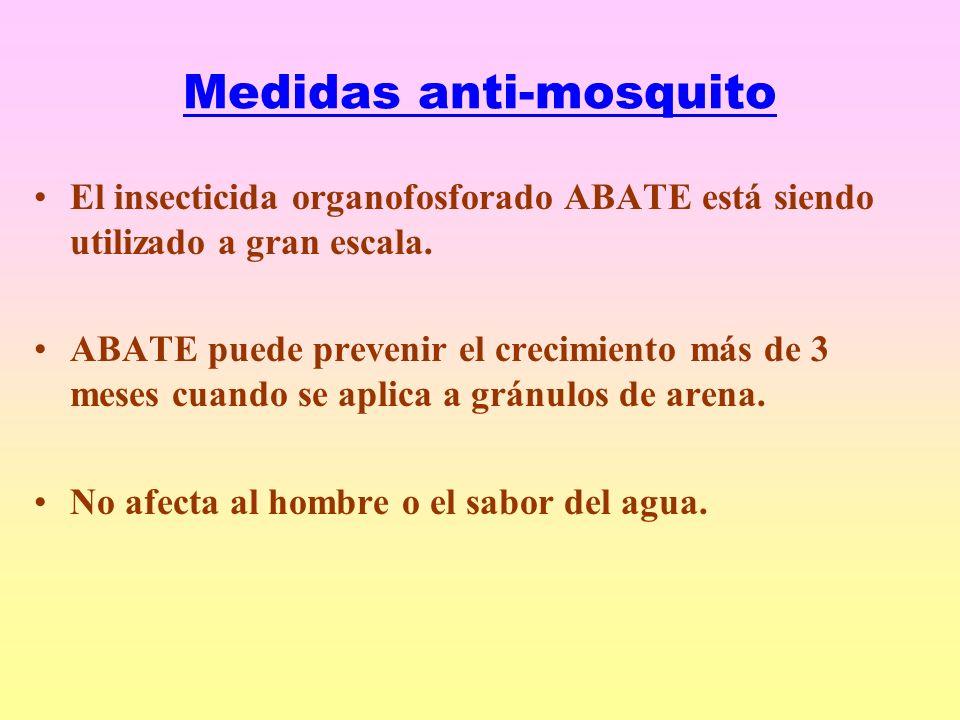 Medidas anti-mosquito