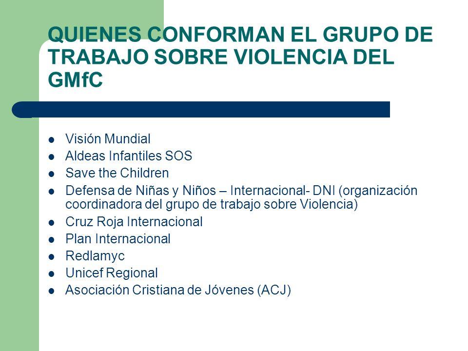 QUIENES CONFORMAN EL GRUPO DE TRABAJO SOBRE VIOLENCIA DEL GMfC