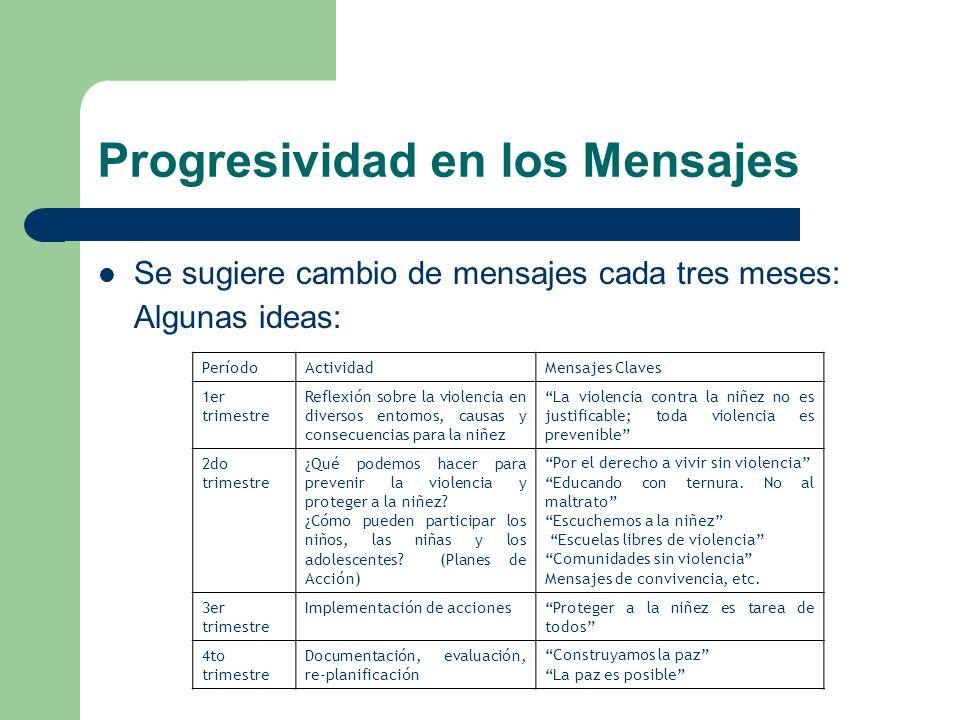 Progresividad en los Mensajes