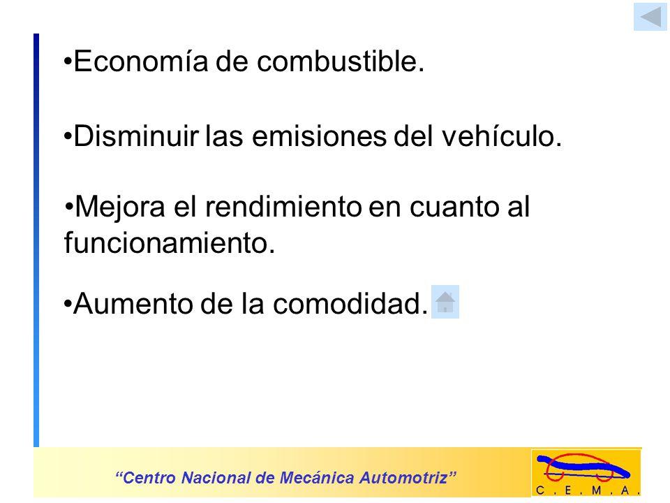 Economía de combustible.