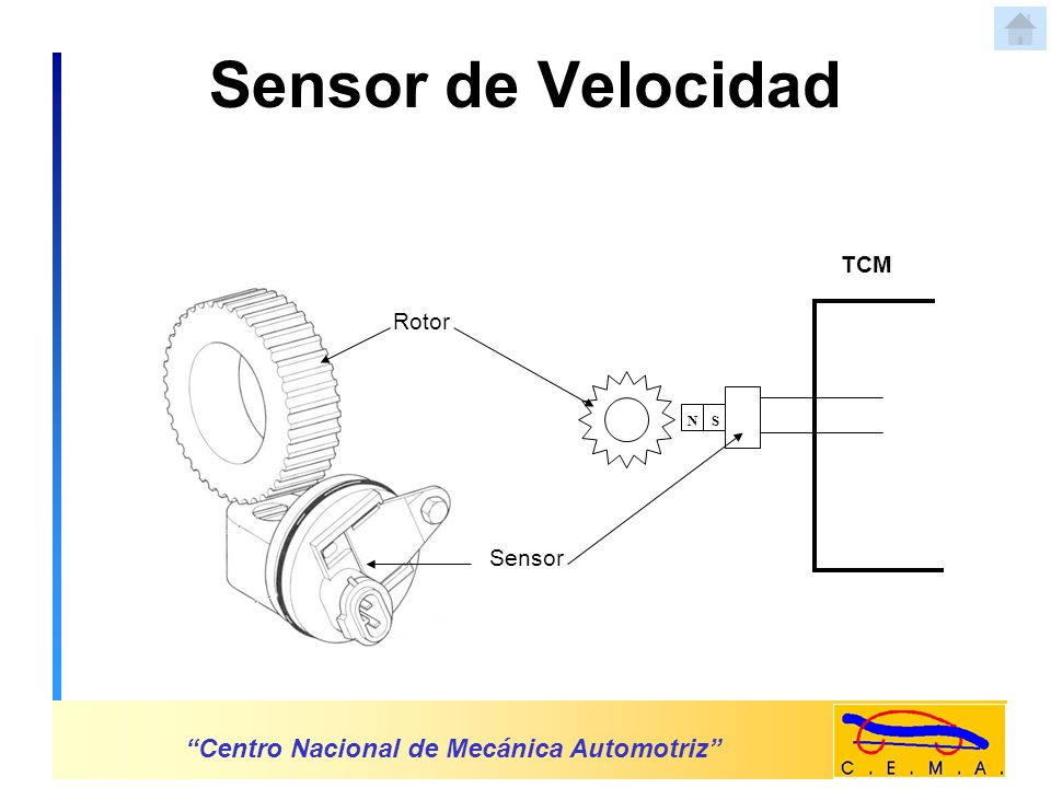 Sensor de Velocidad Centro Nacional de Mecánica Automotriz TCM Rotor