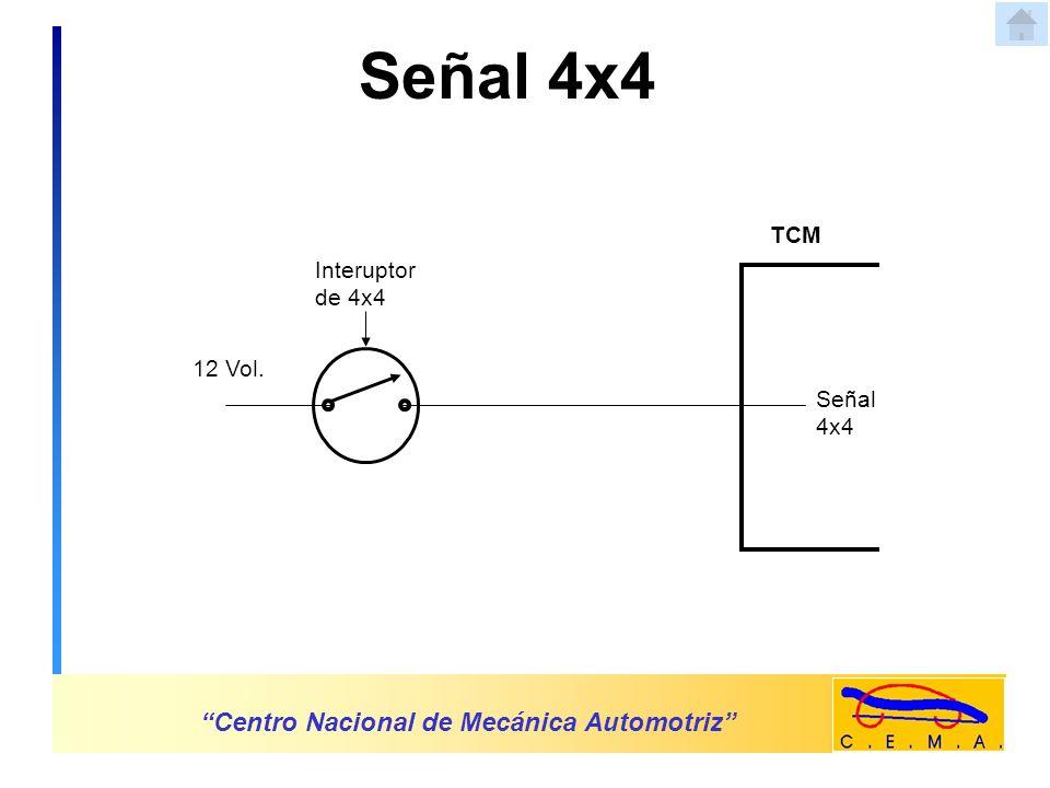 Señal 4x4 Centro Nacional de Mecánica Automotriz TCM