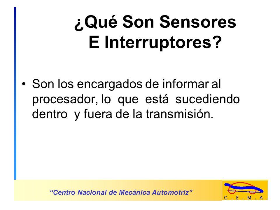 ¿Qué Son Sensores E Interruptores