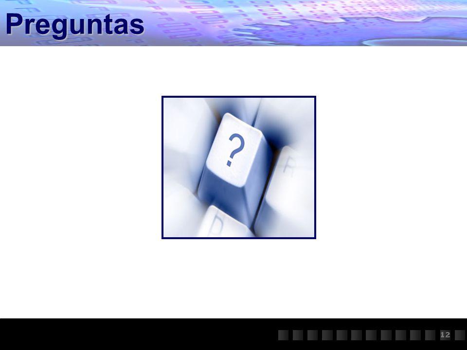 Preguntas 12 11