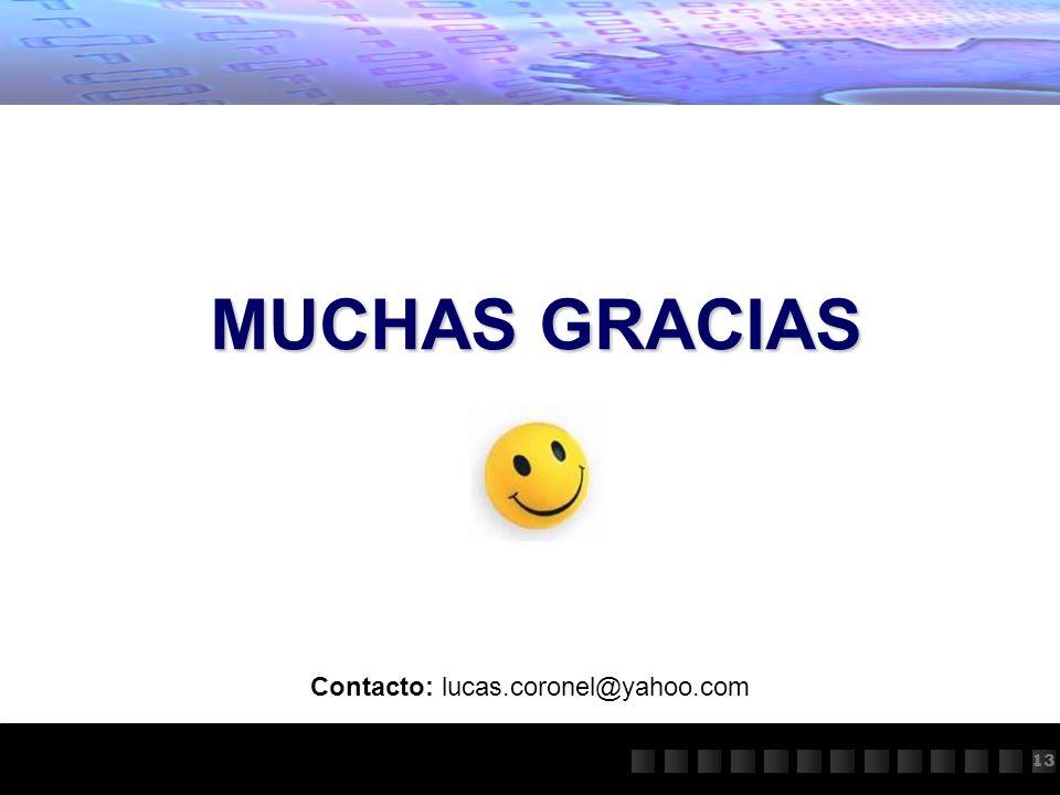 Contacto: lucas.coronel@yahoo.com