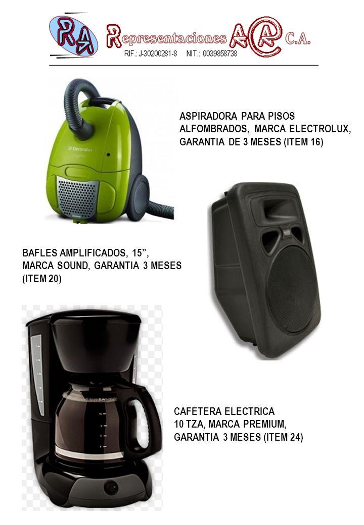 ASPIRADORA PARA PISOS ALFOMBRADOS, MARCA ELECTROLUX, GARANTIA DE 3 MESES (ITEM 16) BAFLES AMPLIFICADOS, 15 ,