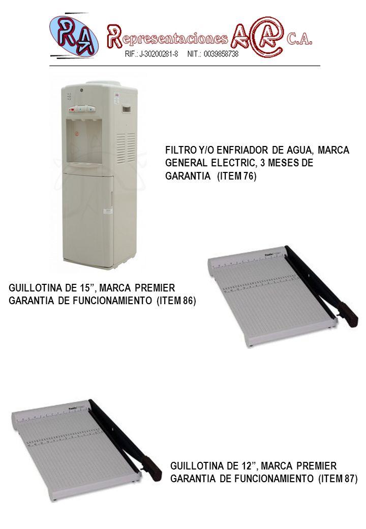 FILTRO Y/O ENFRIADOR DE AGUA, MARCA GENERAL ELECTRIC, 3 MESES DE GARANTIA (ITEM 76)
