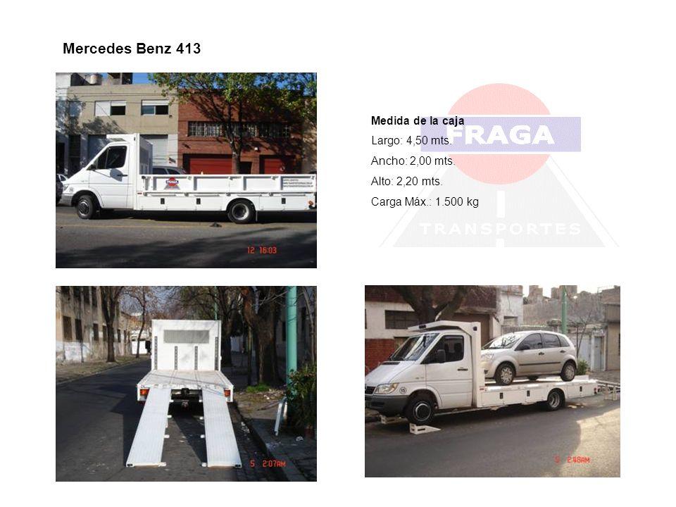Mercedes Benz 413 Medida de la caja Largo: 4,50 mts. Ancho: 2,00 mts.