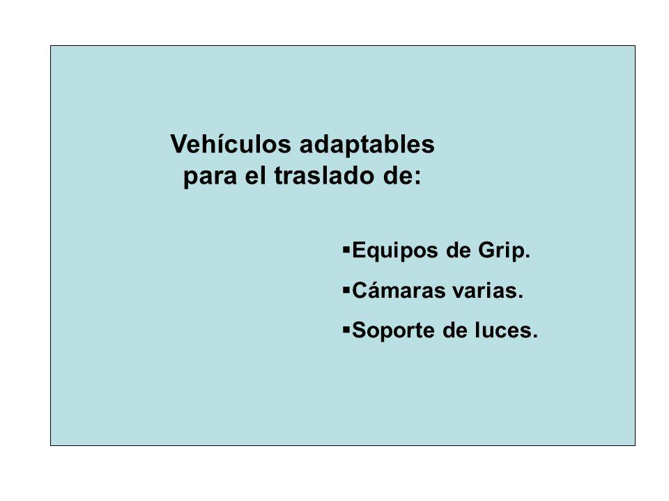 Vehículos adaptables para el traslado de: