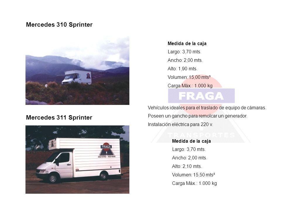 Mercedes 310 Sprinter Mercedes 311 Sprinter Medida de la caja