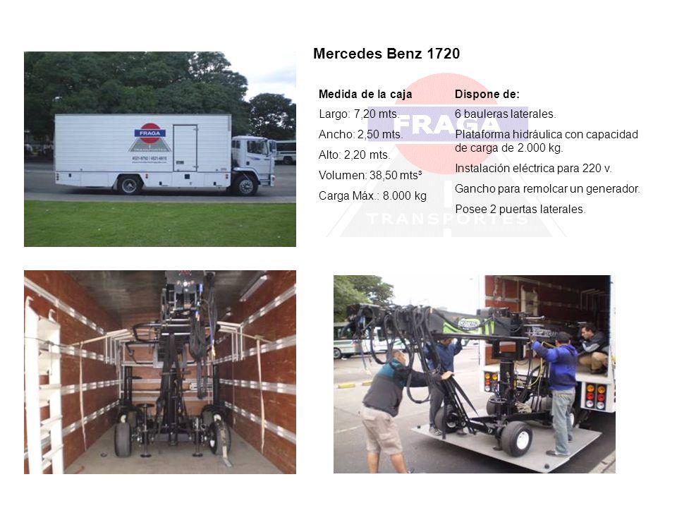 Mercedes Benz 1720 Medida de la caja Largo: 7,20 mts. Ancho: 2,50 mts.