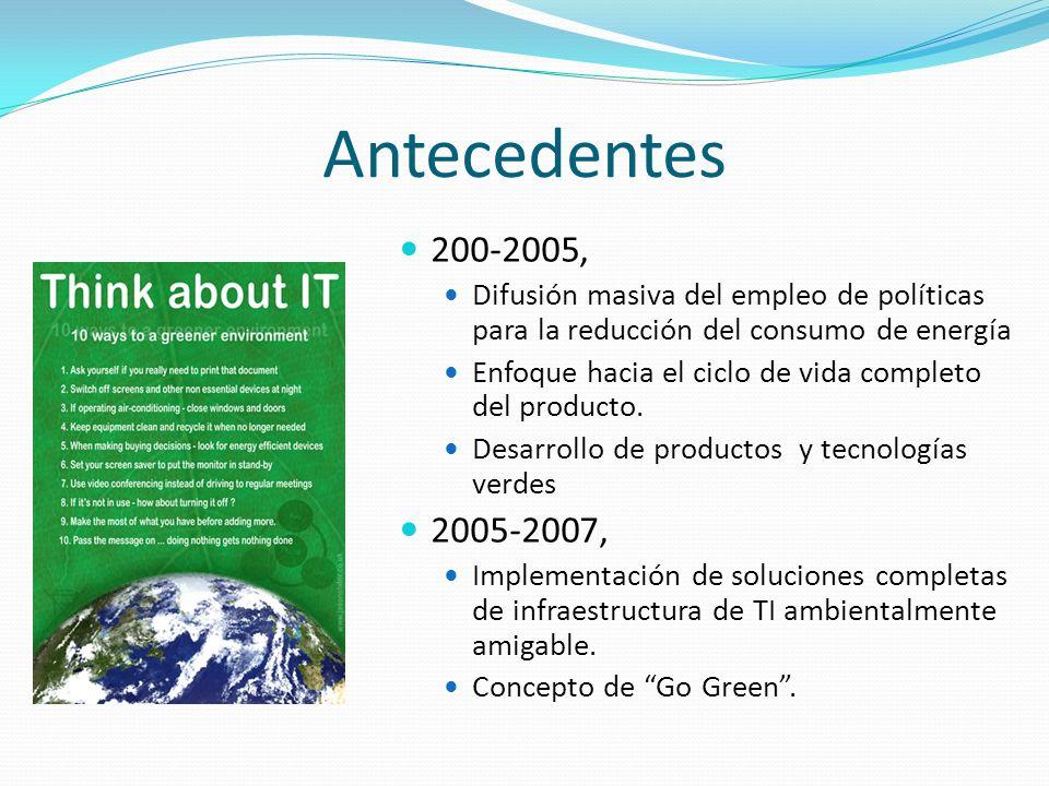 Antecedentes 200-2005, Difusión masiva del empleo de políticas para la reducción del consumo de energía.