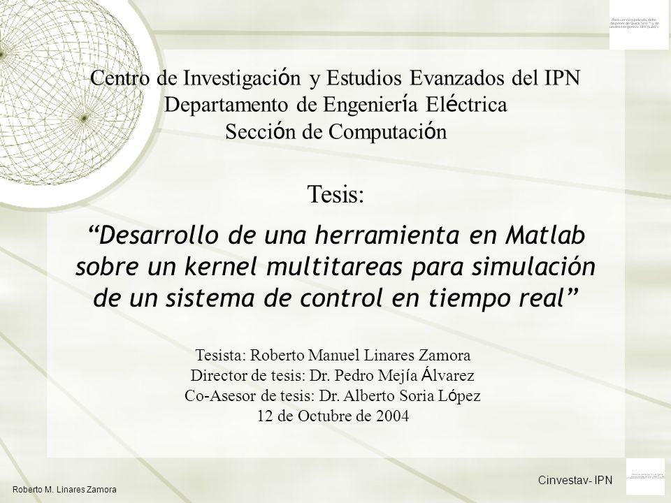 Centro de Investigación y Estudios Evanzados del IPN Departamento de Engeniería Eléctrica Sección de Computación
