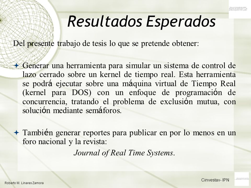 Journal of Real Time Systems.