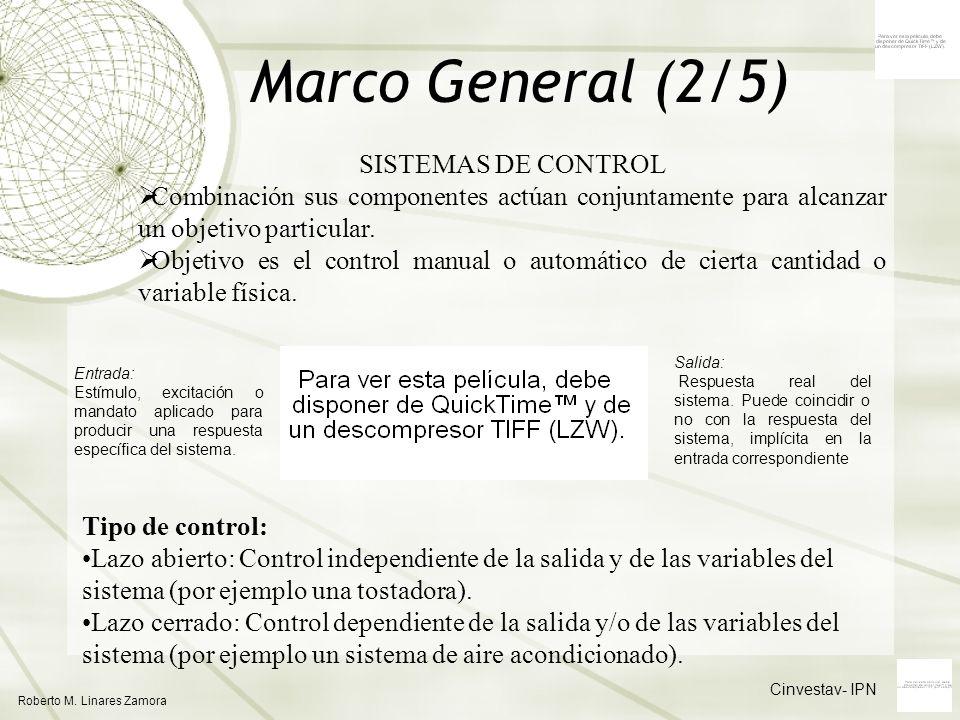 Marco General (2/5) SISTEMAS DE CONTROL