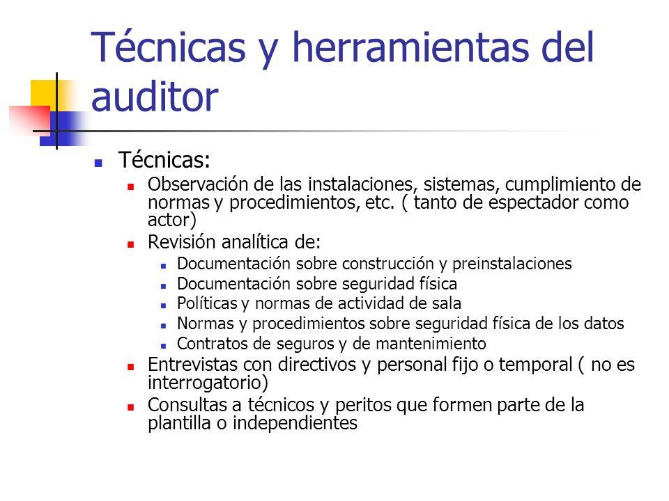 Técnicas y herramientas del auditor