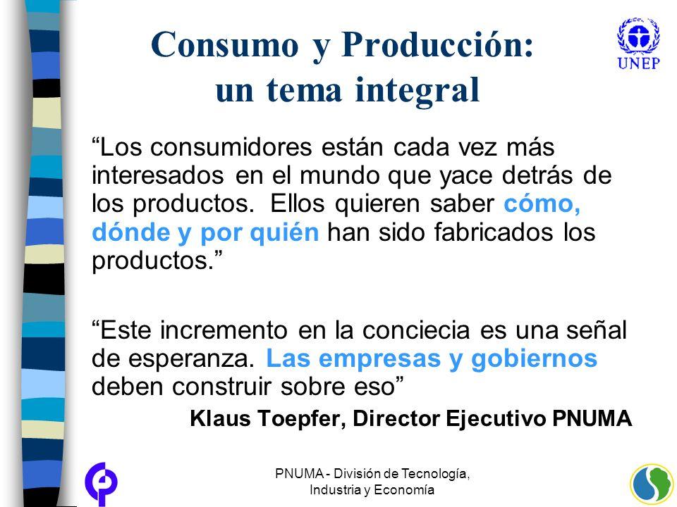 Consumo y Producción: un tema integral