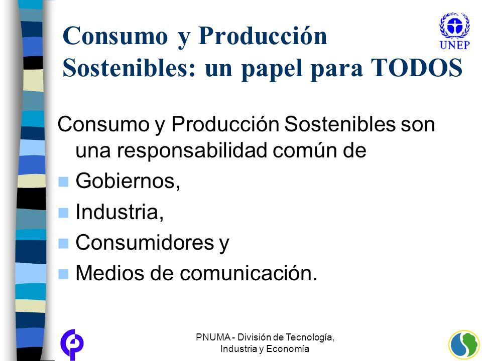Consumo y Producción Sostenibles: un papel para TODOS