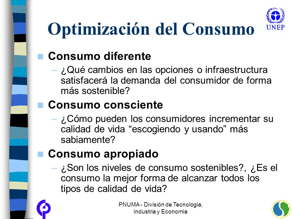Optimización del Consumo