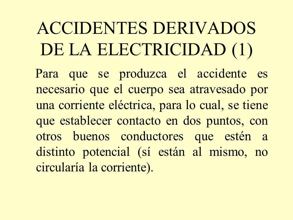 ACCIDENTES DERIVADOS DE LA ELECTRICIDAD (1)