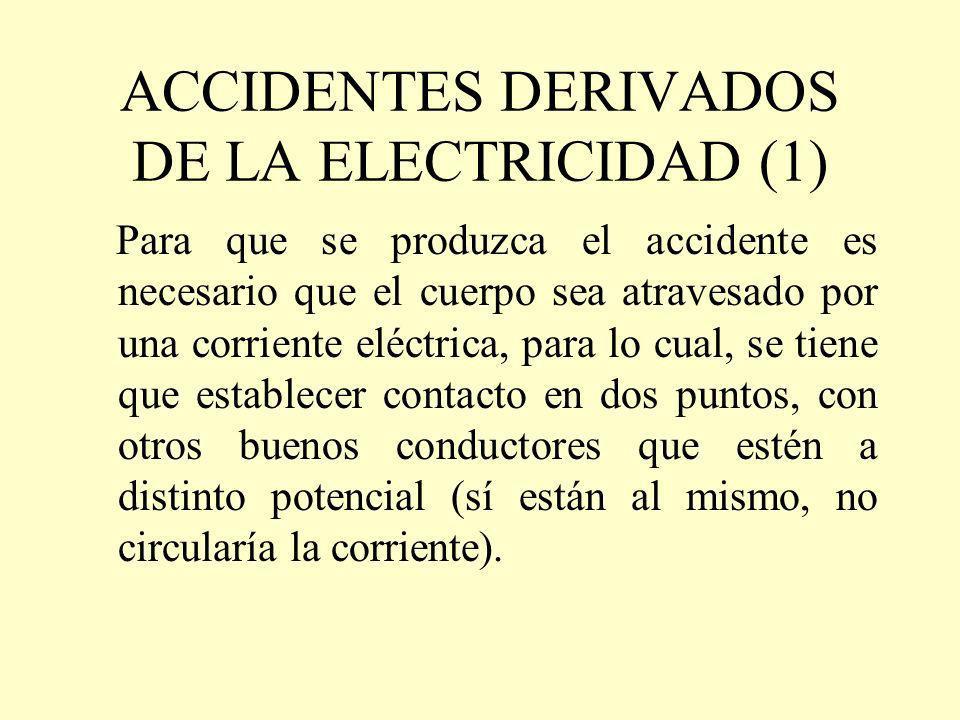 ACCIDENTES DERIVADOS DE LA ELECTRICIDAD (1)