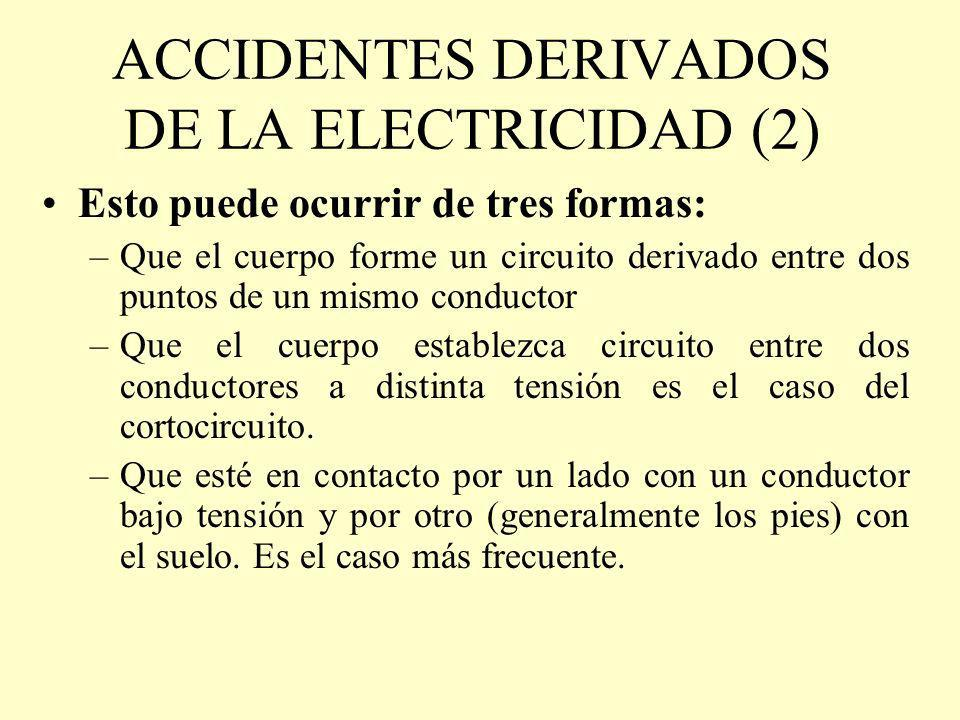 ACCIDENTES DERIVADOS DE LA ELECTRICIDAD (2)