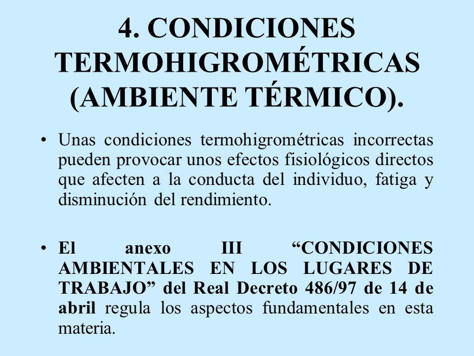 4. CONDICIONES TERMOHIGROMÉTRICAS (AMBIENTE TÉRMICO).