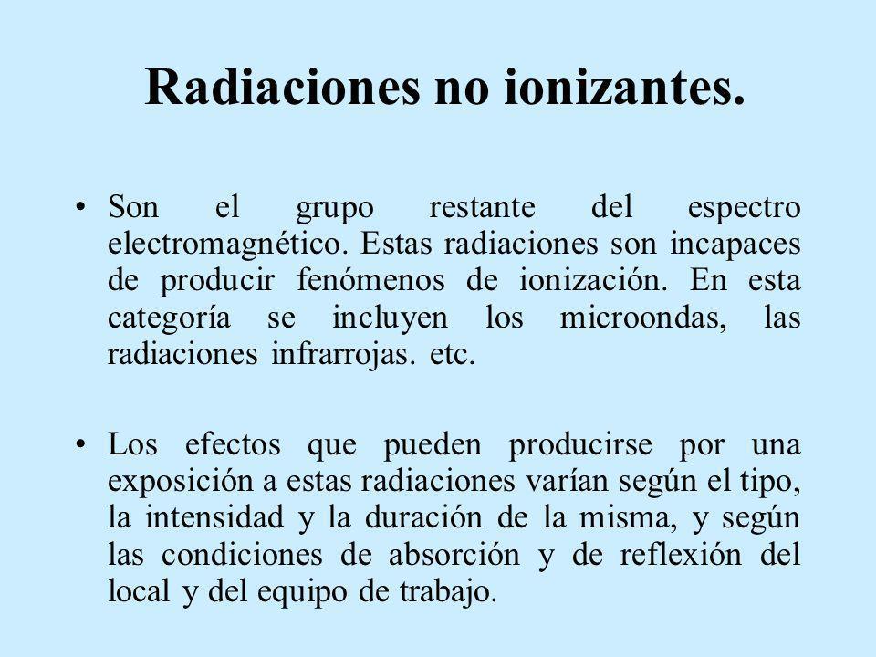 Radiaciones no ionizantes.