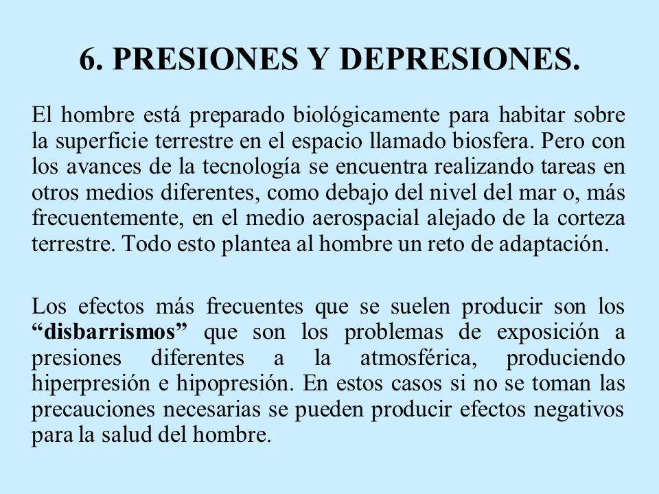 6. PRESIONES Y DEPRESIONES.