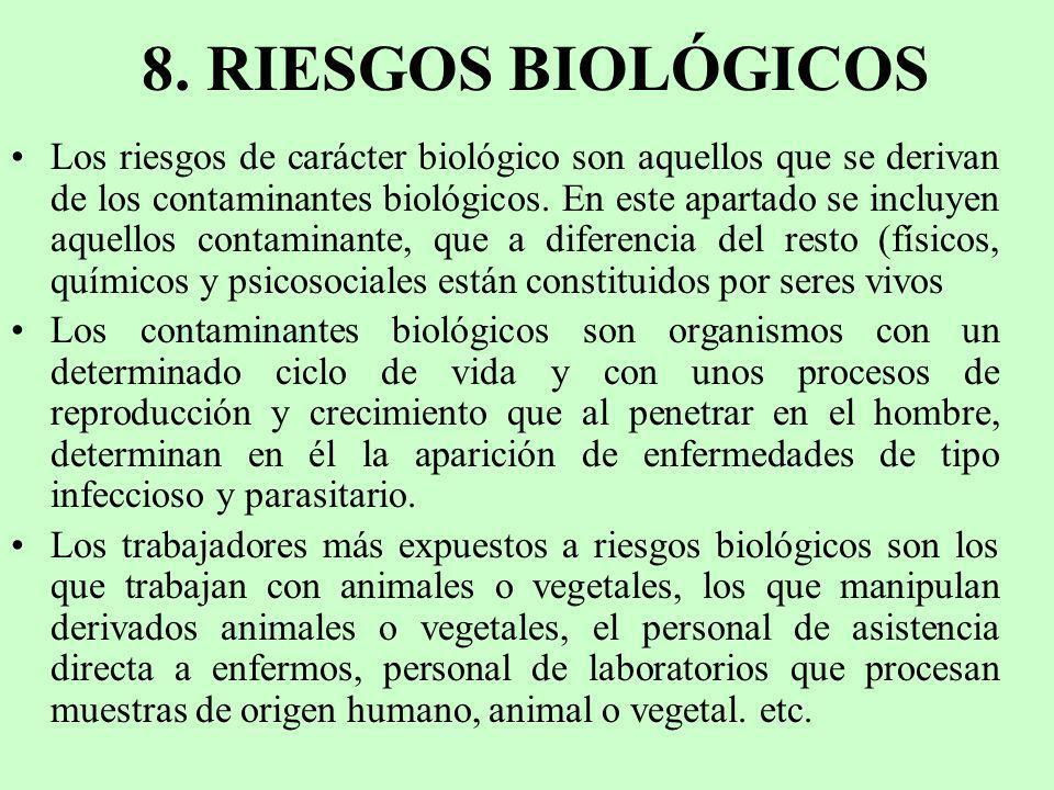 8. RIESGOS BIOLÓGICOS