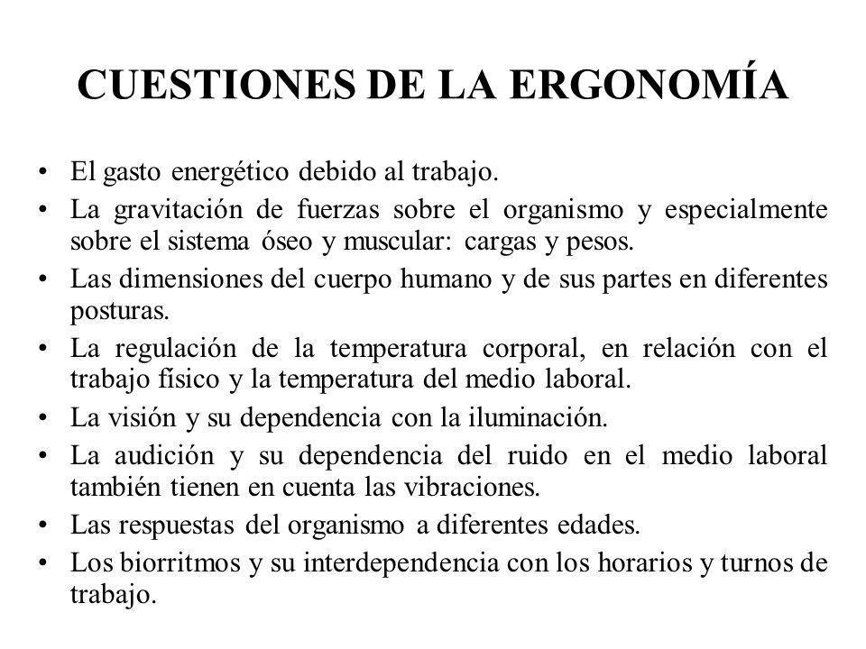 CUESTIONES DE LA ERGONOMÍA
