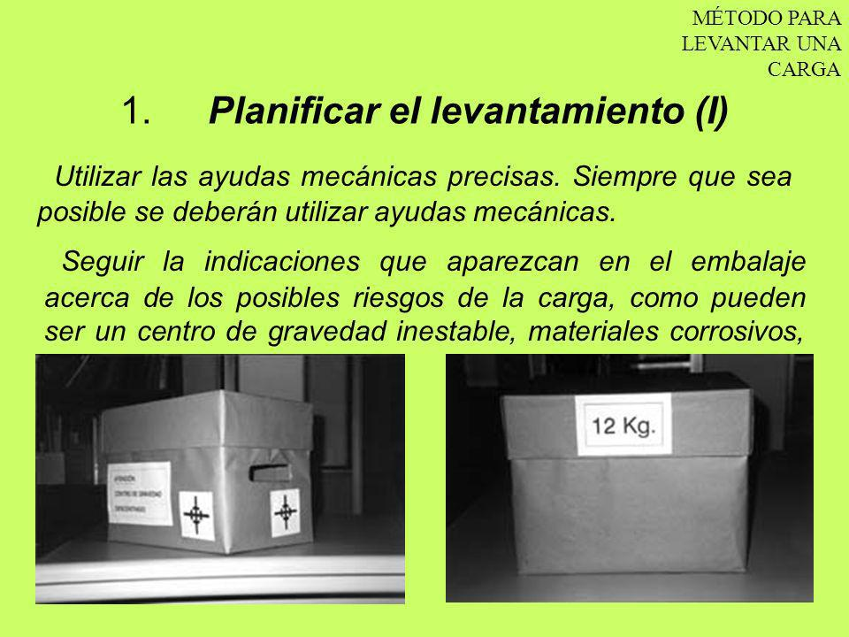 1. Planificar el levantamiento (I)