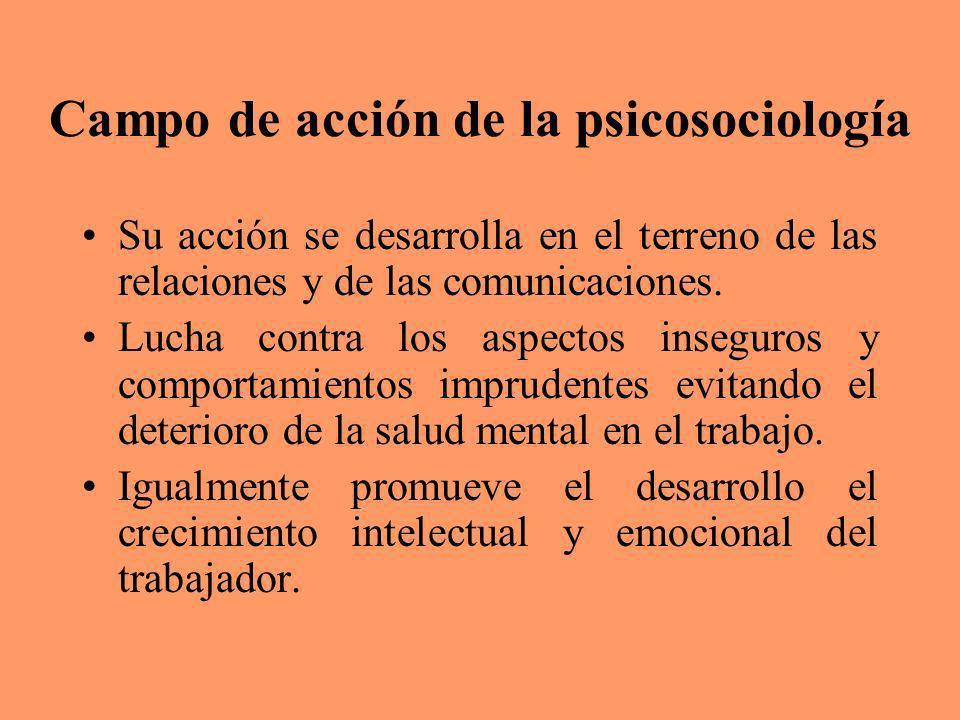 Campo de acción de la psicosociología