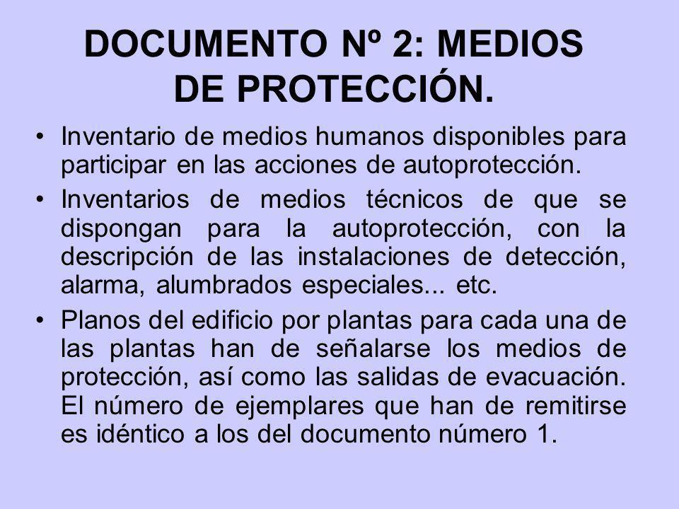 DOCUMENTO Nº 2: MEDIOS DE PROTECCIÓN.
