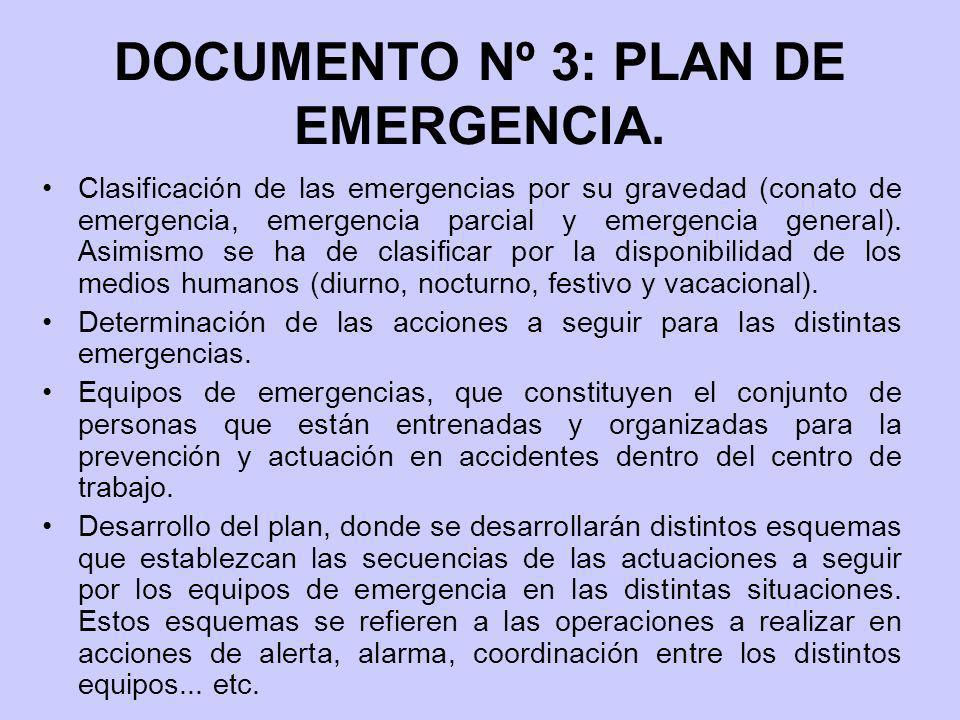 DOCUMENTO Nº 3: PLAN DE EMERGENCIA.