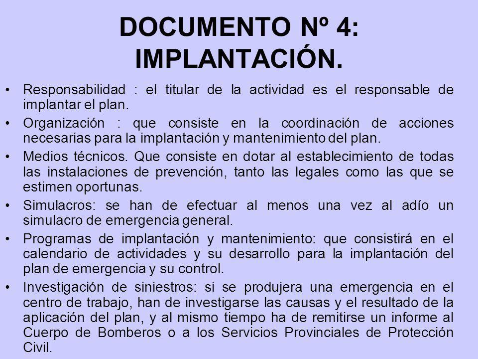 DOCUMENTO Nº 4: IMPLANTACIÓN.