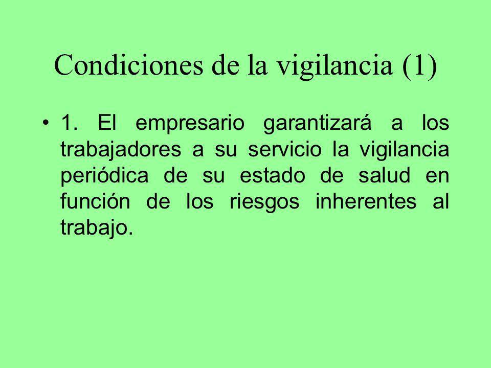 Condiciones de la vigilancia (1)
