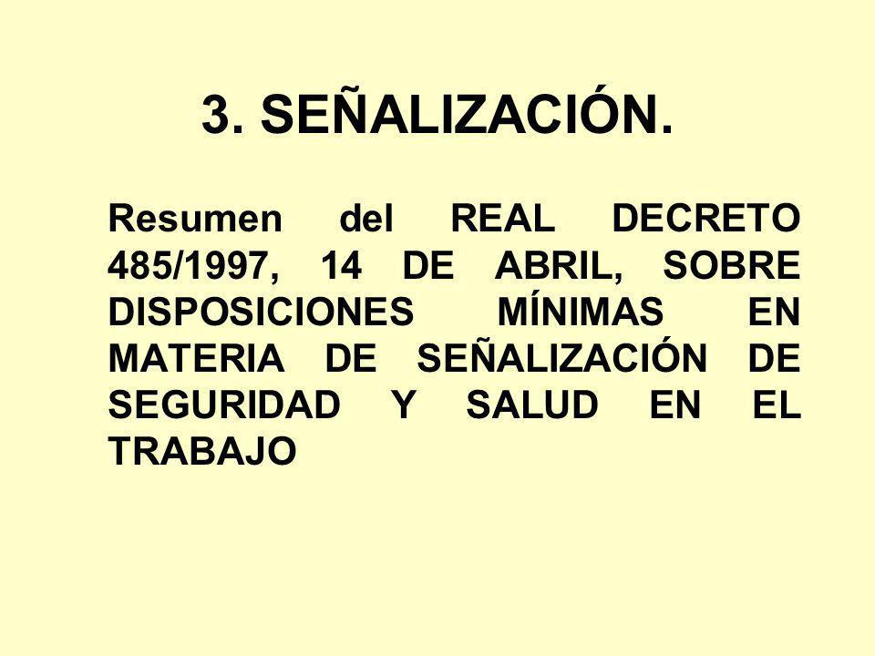 3. SEÑALIZACIÓN.