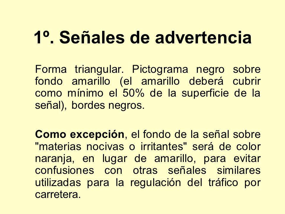 1º. Señales de advertencia