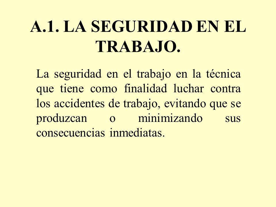 A.1. LA SEGURIDAD EN EL TRABAJO.