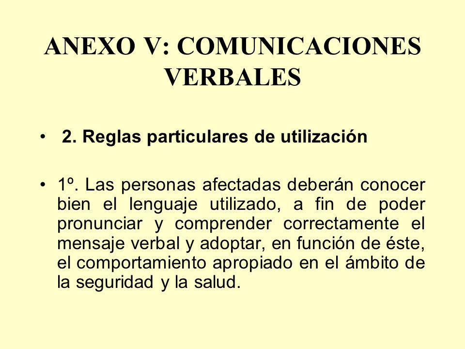 ANEXO V: COMUNICACIONES VERBALES