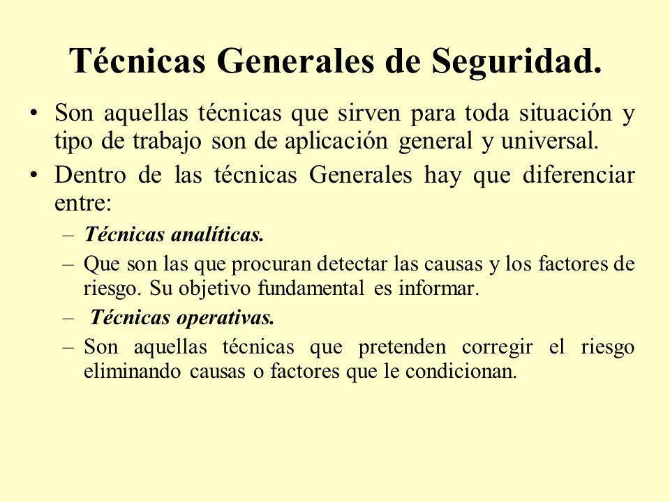 Técnicas Generales de Seguridad.