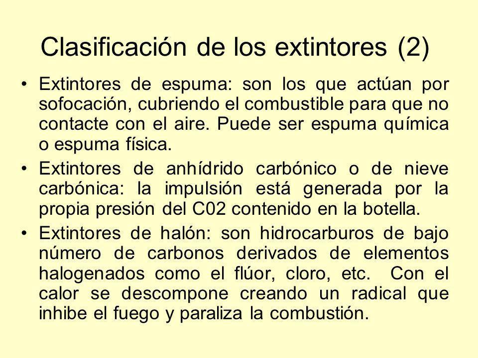 Clasificación de los extintores (2)