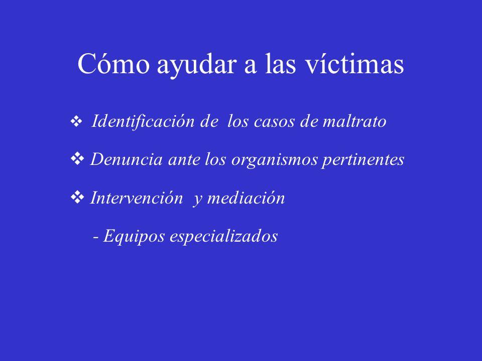 Cómo ayudar a las víctimas