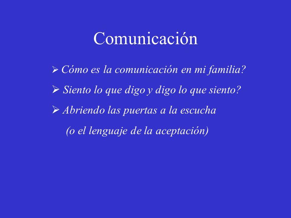 Comunicación Siento lo que digo y digo lo que siento