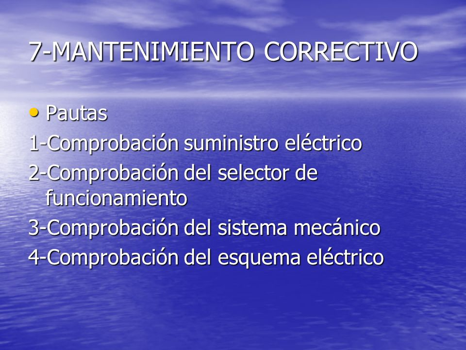 7-MANTENIMIENTO CORRECTIVO